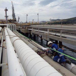 Guided Wave Ultrasonic Test of Jetty Pipelines